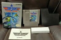 Top Gun Second Mission - NES Nintendo Game Original BOX Complete Manual Cover