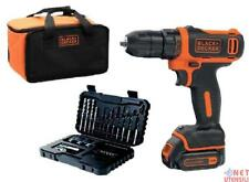 BLACK & DECKER BDCDD12S32A AVVITATORE A BATTERIA A LITIO 10,8 VOLT CON ACCESSORI