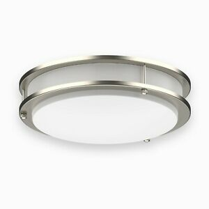 "DYMOND LED Flush Mount Ceiling Light Fixture Dimmable Double Ring 10""/12""/14""/16"