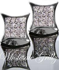 NEW!!! $69 Mens CUSTOM 14k White Gold Gp Simulate Diamond HIP HOP KITE Earrings!