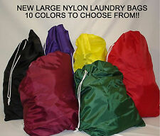 "LOT OF 4  LAUNDRY BAGS-NYLON-OVERSIZED 22""x28"""