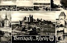 Breisach am Rhein Mehrbildkarte ~1950/60 Hagenbacher Turm Rheintor Radbrunnen