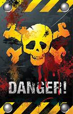 Warning Danger Fridge Magnet - Fantasy/Myth