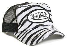 Authentic Brand New Von Dutch FAUX ZEBRA Cap Hat Trucker Mesh Snapback