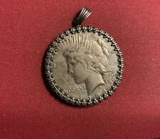 USA 1 Dollar 1924 Silber als Anhänger gefasst - Peace Dollar