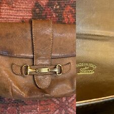 Chestnut Leather Vintage Gucci Small Bag/purse