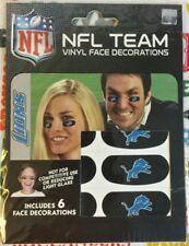 NFL Set of 6 Eye Strip Stickers Detroit Lions (Face/Body Decorations) 3 Pair
