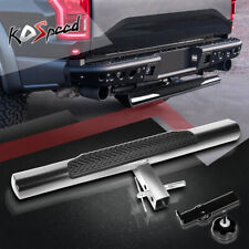 """Polished 35""""x 4"""" Pedal Oval 2"""" Receiver Trailer Towing Tailgate Hitch Rear Step"""