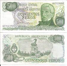 ARGENTINA 500 PESOS P 303c LOTE DE 5 BILLETES