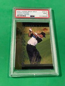 2001 Upper Deck Golf Tiger Woods #TT-13 Tiger's Tale RC PSA 9 MINT PGA CHAMPION!
