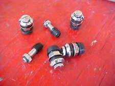 set of 4,flush mount chrome steel wheel/tire valve stems,trick,dirt track