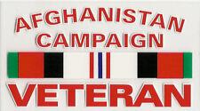 Afghanistan Veteran Decal - Outside Application