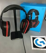 Logitech G332 Stereo Gaming Headset Black And Red