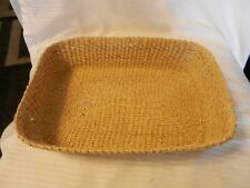 Woven Wicker Rattan Rectangular Basket for Bread, Fruit Towels, Light Brown Colo