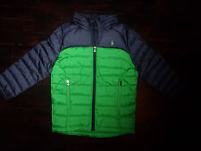 NWT Polo Ralph Lauren Boys 6 Down Jacket Coat Colorblock Blue Green Pony