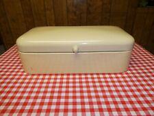 Vintage Porcelain Enamel German Bread Box