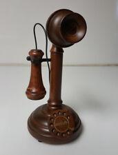 Music Box Candlestick Telephone Wood Beautiful Piece! call you sweetheart