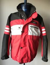 Descente Winter Jacket Coat Red Black White Mens Size Small - Fits Like Large