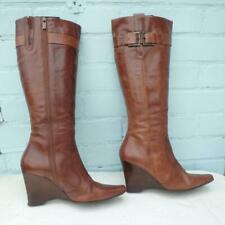 NEXT Leather Boots Size UK 6 Eur 39 Womens Ladies Sexy Wedge Brown Boots