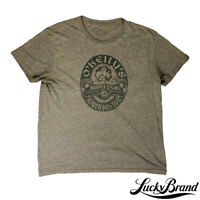 Lucky Brand Mens L Shour Sleeve Graphic Tee Faded Green Sucker Punch Irish Pub