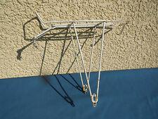 Porte-Bagages Ancien pour Vélo Vintage peint blanc robuste  Old Bike