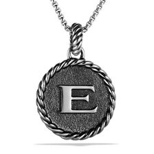 David Yurman Sterling Silver Initial Charm - E
