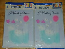 2 Packages Hallmark® Wedding Shower Invitations ~ Flowers in Vases  New!