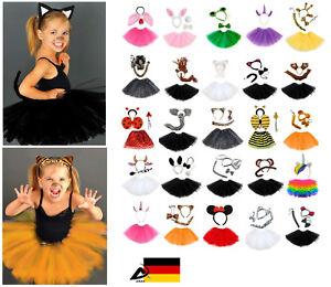 Kinder Tier Kostüm Fasching Karneval Halloween Tütü Ohren Schleife Haarreifen