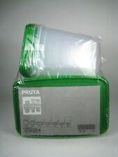 IKEA Pruta Food Containers Set 17 BPA Free Dishwasher Safe Microwave Freezer