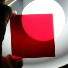 """2.25"""" Square Red Safety Focus Filter Fits many Above Lens Filter Drawer NEW F07"""