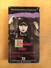Pandora's Box Motion Picture VHS 1929 GW Pabst German Silent Janus Rental RARE