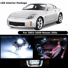 5PCS Cool White Interior LED Bulbs Package Kit for 2003 - 2009 Nissan 350Z