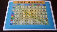 Moltiplicazione Square-scopri i tempi di tabelle-KS1 KS2-A4 POSTER LAMINATO