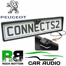 PEUGEOT 307 Rear View Reversing Parking Colour Camera & Car Number Plate Frame