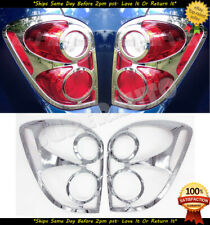 Fits 2010-2015 Chevrolet EQUINOX 2pcs Chrome Tail Light Cover Frame Only Style