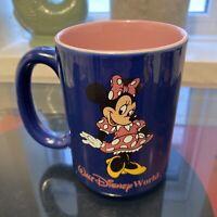 Walt Disney World Coffee Mug Cup Purple MINNIE MOUSE Pink 16 oz Thailand