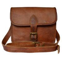 Genuine Leather Crossbody Small Shoulder Sling Casual Saddle Brown Vintage Bag