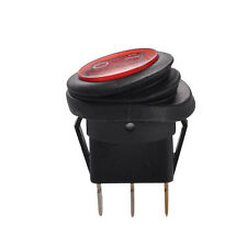 LED 12V 20A NEW Car Auto Boat Round Rocker ON/OFF TOGGLE SPST SWITCH Waterproof