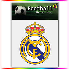 "Real Madrid CF UEFA Die Cut Vinyl Sticker Car Bumper Window 4""x3"""