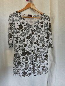 Tee-shirt long femme 46 grande taille marque toscane