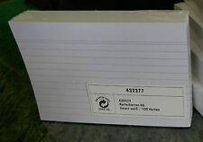 1 Packung !!!  Karteikarten A6  liniert   NEU OVP