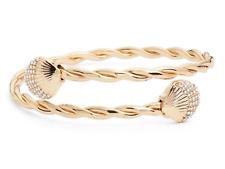 🐬 Lilly Pulitzer ARM CUFF GOLD w Crystals Bracelet Sea Shells Celestial Seas