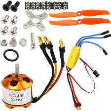 A2212-6T 2200KV Brushless Motor + 30A ESC + Free Mount For RC Plane Helicopter