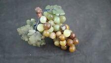 "Mid Century Modern Glass Grape Cluster 7"" Length Stem Lucite Plastic Grape"