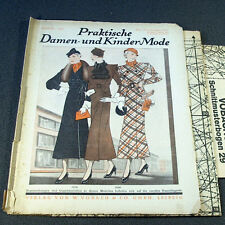1930s GERMAN FASHION & SEWING PATTERN MAGAZINE 1933 -Vintage 30s WEDDING DRESSES