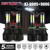 4-Side 9005 9006 Combo LED Headlight Kit 5600W Fog Light Bulb High Lo Beam 6000K