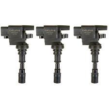 Set of 3 Delphi Direct Ignition Coils for Hyundai XG300 XG350 Kia Sedona V6