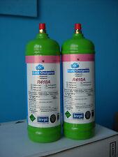 2 BOMBOLE DI GAS REFRIGERANTE R410A da 1Lt/ 800gr  - ricarica climatizzatori -