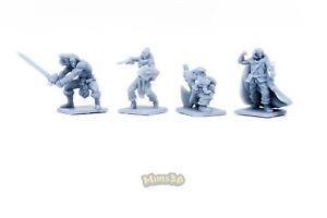 NEW EXCLUSIVE DESIGN!! Minis3D -Rep. Heroquest - Remake F. Schizzo - Heroes