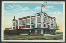 KY Fulton LITHO 20's SWIFT & COMPANY PLANT Railroad Cars CAR Poultry Butter Eggs